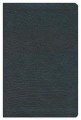 KJV Large-Print Personal-Size Reference Bible--bonded leather, black
