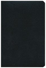NKJV Large Print Personal Size Reference Bible, Black Bonded Leather, Thumb-Indexed