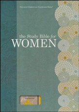 HCSB Study Bible for Women, Personal Size Edition--linen, yellow/gray