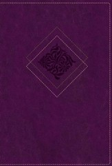 NLT Our Daily Bread Devotional Bible, Leatherlike Purple