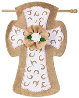 Easter Cross Burlap Flag, Large