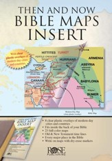 Then and Now Bible Maps Insert  - Slightly Imperfect