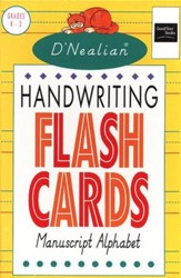D'Nealian Handwriting Flash Cards, Manuscript Alphabet