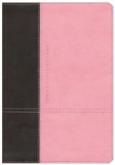NLT Life Application Study Bible, TuTone Dark Brown/Pink Leatherlike - Slightly Imperfect