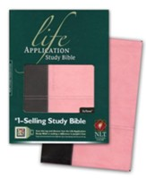 NLT Life Application Study Bible, TuTone Dark Brown/Pink Indexed Leatherlike