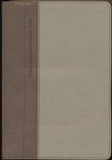 NLT Life Application Study Bible--Soft leather-look, taupe/stone (indexed)