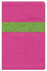 NLT Premium Gift Bible, TuTone Bubble Gum/Pistachio Leatherlike - Imperfectly Imprinted Bibles