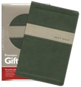 NLT Premium Gift Bible, TuTone Evergreen/Stone Leatherlike