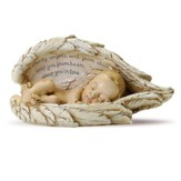 Sleeping Baby in Angel Wings Figurine, Small