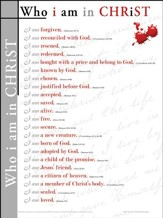 Who I Am in Christ, Laminated Wall Chart