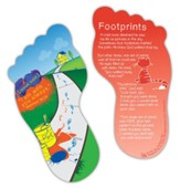 Footprints Shaped Bookmark