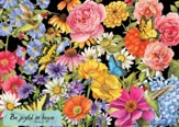 Be Joyful (Butterfly Garden), 1000 Piece Jigsaw Puzzle (Romans 12:12)