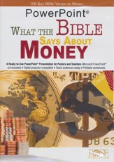 What The Bible Says About Money - PowerPoint CD-ROM