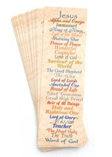 Names of Jesus Bookmarks, 25-Pack