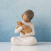 Kindness, Girl With Kitten Figure By Willow Tree