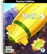 BJU Math 5 Teacher's Edition with CD-ROM, Third Edition