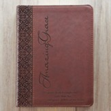 LuxLeather Journal, Amazing Grace, Brown