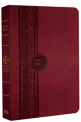 MEV Thinline Reference Bible, Imitation Leather Cranberry
