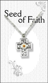 Mustard Seed Cross Necklace