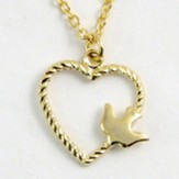 Heart Dove Necklace