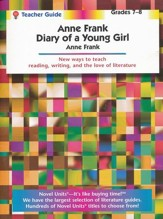 Anne Frank: Diary of a Young Girl, Novel Units Teacher Gd. Gr. 7-8