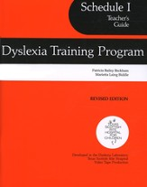 Dyslexia Schedule 1, Teacher's Guide