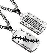 Crucified Crown of Thorns Dog Tag