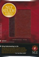 NLT Study Bible Personal Size TuTone Brown/Tan  Leatherlike, Indexed