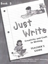Just Write Book 3, Teacher Guide (Homeschool Edition)
