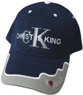Christ Is King Cap Navy