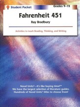 Fahrenheit 451, Novel Units Student Packet, Grades 9-12