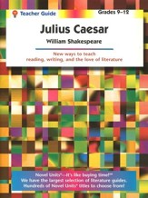 Julius Caesar Novel Units Teacher's  Guide, Grades 9-12