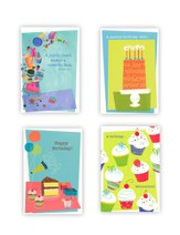 Sweet Treats Birthday Cards, Box of 12