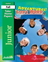 Adventures in God's Word Junior (Grades 5-6) Take-Home Papers