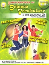 Jumpstarters for Science Vocabulary Grades 4-8+