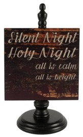Silent Night, Holy Night Pedestal Sign