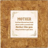 Mother, God Has Blessed Me From Above, Framed Print, 7X7