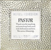 Pastor, Thank You for Teaching and Preaching, Framed Print, 7X7