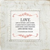Love Is Patient, Love Is Kind, Framed Print, 7X7