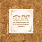 May the God Of Hope Fill You With All Joy and Peace In Believing, Framed Print, 7X7