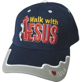 Walk With Jesus Cap Navy