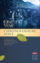 NKJV One Year Chronological Bible, Hardcover - Imperfectly Imprinted Bibles