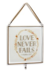 Love Never Fails Glass Window Art
