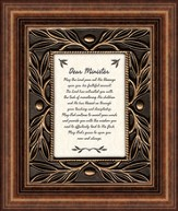 Dear Minister, May the Lord Pour Out His Blessings, Tabletop Framed Print
