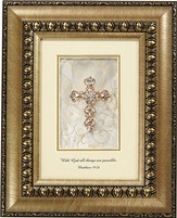 With God All Things Are Possible, Cross, Framed Print, 8X10