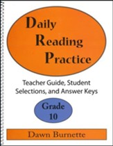 Daily Reading Practice Grade 10 Teacher Guide