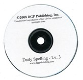 Daily Spelling Practice Level 3 Overheads on CD-ROM