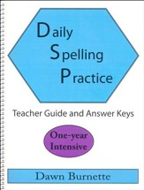 Daily Spelling Practice One-year Intensive Teacher Guide
