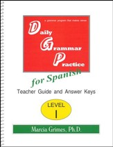 Daily Grammar Practice for Spanish I Teacher Guide