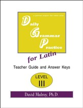 Daily Grammar Practice for Latin Level 3 Teacher Guide